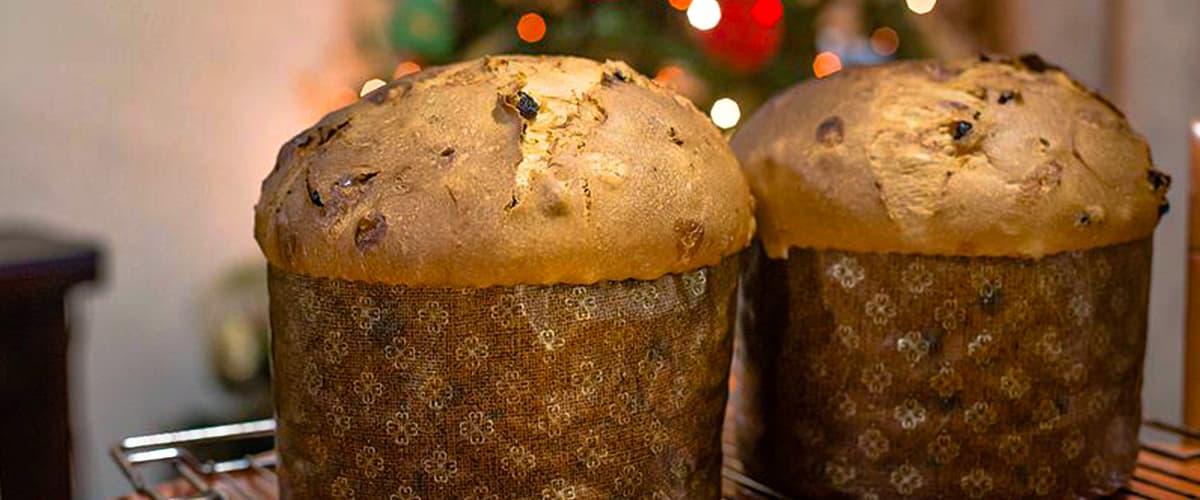 Argentyńskie świąteczne ciasto pan dulce w sklepie yerba mate